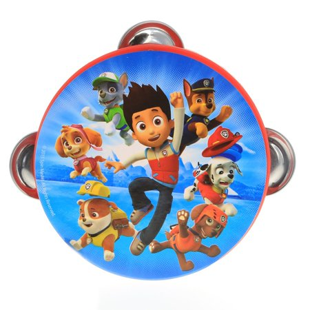 Licensed Kids Tambourine Educational Musical Instrument Toy (Many Characters)