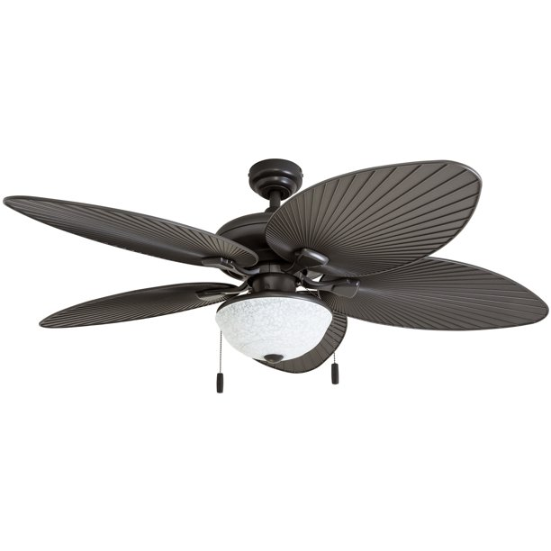 Honeywell Inland Breeze 52 Bronze Outdoor Led Ceiling Fan With Light Plastic Wicker Blades Walmart Com Walmart Com