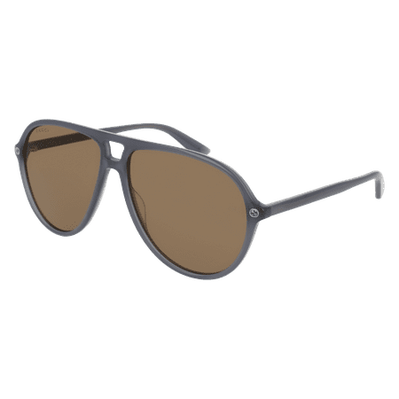 GG0119S-005 Grey 59mm Gucci GG0119S Sensual Romantic Aviator Man Sunglasses