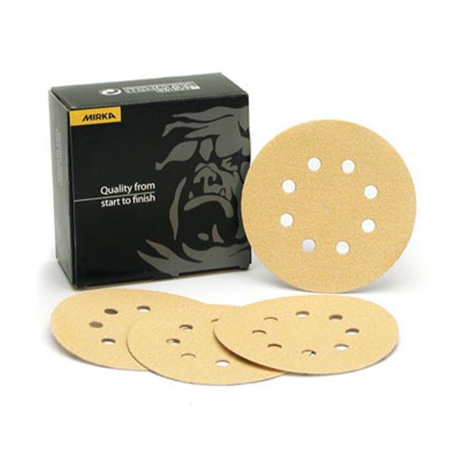 Mirka Ma23. 615. Ap 5 inch Bulldog With 8 Hole Grip Disc - Gold