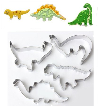 Icing biscuit cookie Cutters Dinosaur set of 4 Sugarcraft Cake Decorating cupcake mold tools topper stainless steel pastry (Icing Ideas For Halloween Cookies)