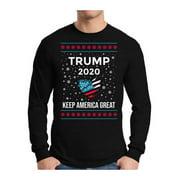 Awkward Styles Xmas Trump Ugly Christmas Sweater Long Sleeve T-shirt For Men