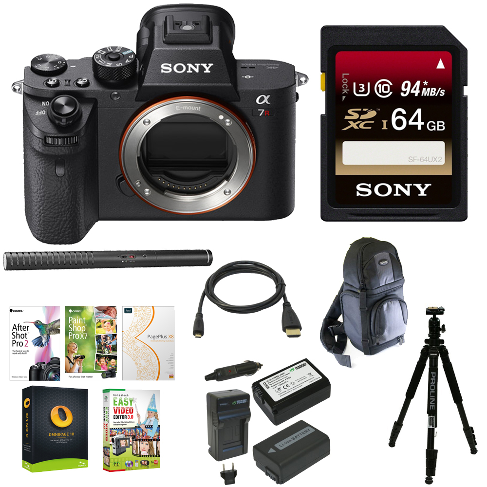 Sony Alpha a7RII Mirrorless Digital Camera + Sony 64GB Memory Card + Accessory Kit by Sony