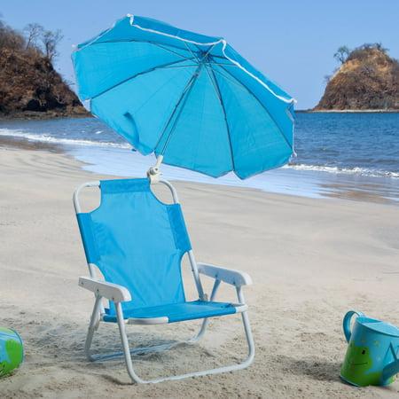 kids blue beach chair umbrella. Black Bedroom Furniture Sets. Home Design Ideas