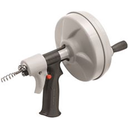 Ridgid Kwik-Spin Hand Spinner With C-1Ic Bulb Auger Cable, 1/4 In. X 25 (Hand Auger)