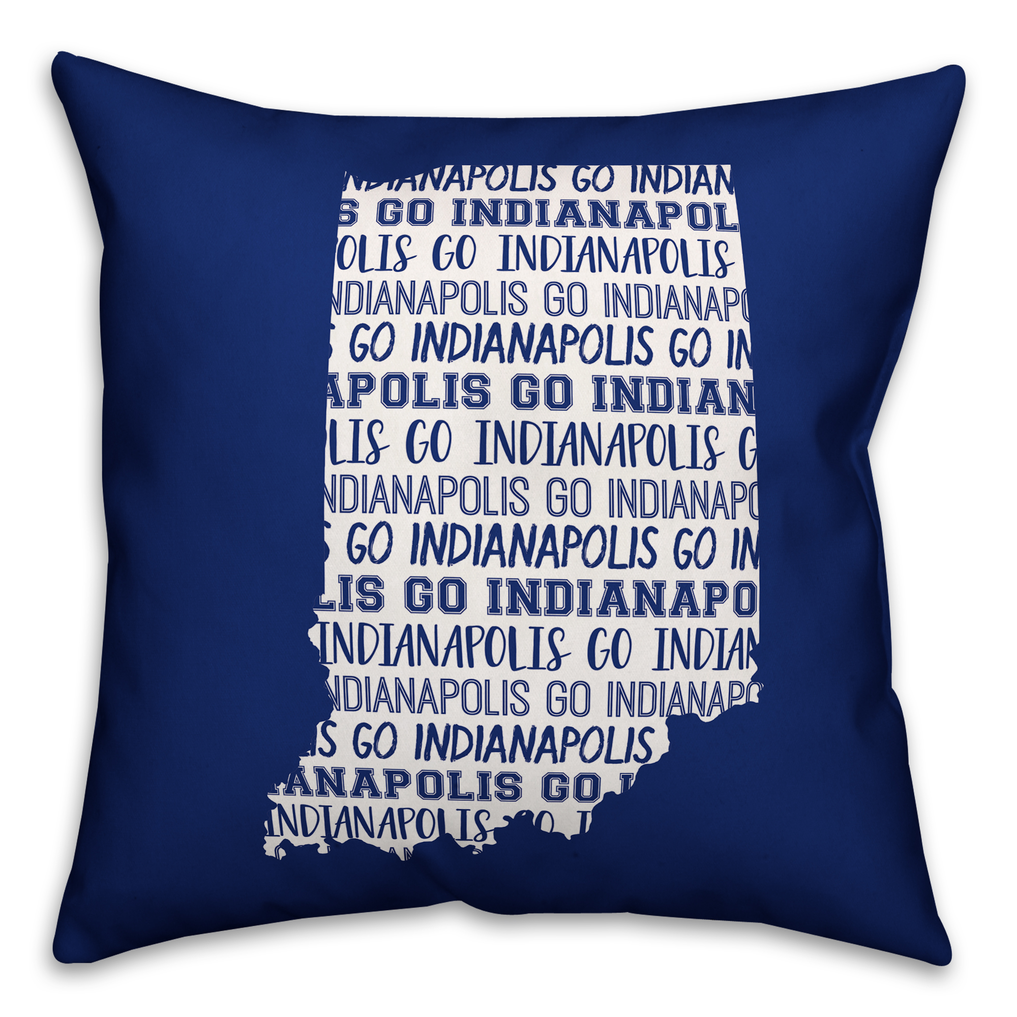 Blue Indiana Go Team 16x16 Spun Poly Pillow