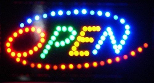 """23/"""" x 14/"""" Durable Large Bright Animated Motion Business LED Open Sign w// Switch"""