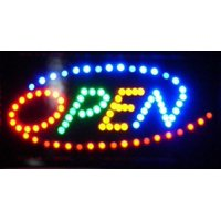 2xhome Open Sign High Visible Bright 4 Colors Big Chip Led Moving Flashing Animated Neon Sign Motion Light On Off Switch Button Chain Business Cafe Bar Pub Coffee Shop Store Wall Window Display