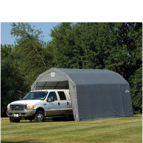 12' x 20' x 9' Barn Style Shelter, Gray