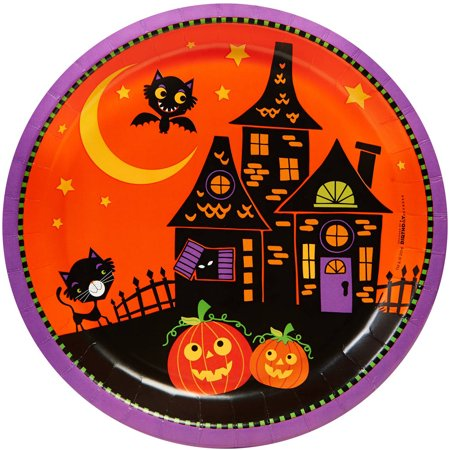 Trick or Treat Halloween Dinner Plates, 8pk - Halloween Dinner For Two