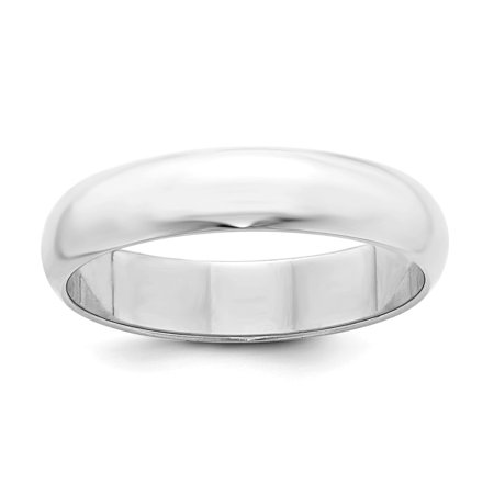 Solid 925 Sterling Silver 5mm Wedding Band -