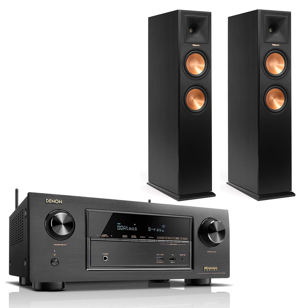 Denon AVRX2300W 7.2 Channel Receiver w  Klipsch RP260 Floorstanding Speaker Pair by Denon