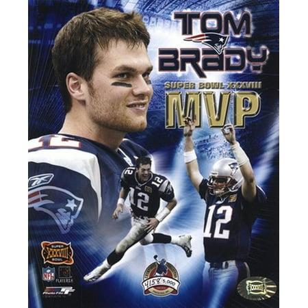 Tom Brady   Super Bowl Xxxviii Mvp Champions Collection  Limited Edition  Sports Photo  8 X 10