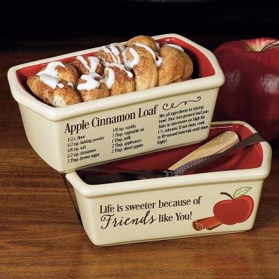 Abbey Press - Loaf Pan-Mini-Friends/Apple Cinnamon Recipe w/Wooden Spoon
