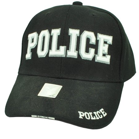 Police Cops Law Enforcement Officer Patrol Black Hat Cap Adjustable Curved Bill](Keystone Cop Hat)
