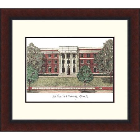Sul Ross State University Legacy Alumnus Framed Lithograph
