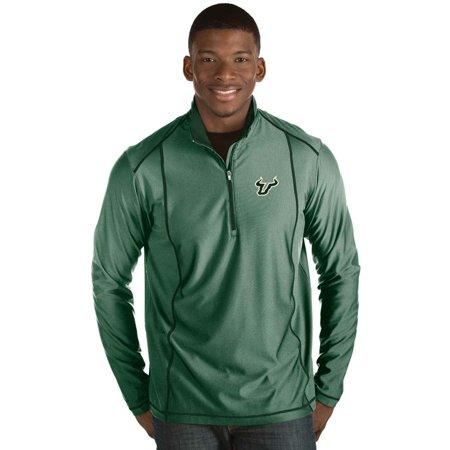 - South Florida Bulls Antigua Tempo 1/2-Zip Desert Dry Pullover Jacket - Green