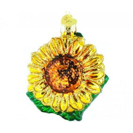 - Old World Christmas Garden Sunflower Glass Blown Ornament