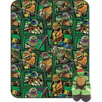 Teenage Mutant Ninja Turtles Twin Blanket with Pillow Buddy by Nickelodeon