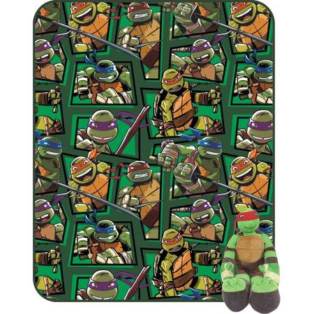 Teenage Mutant Ninja Turtles Twin Blanket with Pillow Buddy by Nickelodeon](Ninja Turtle Sweets)