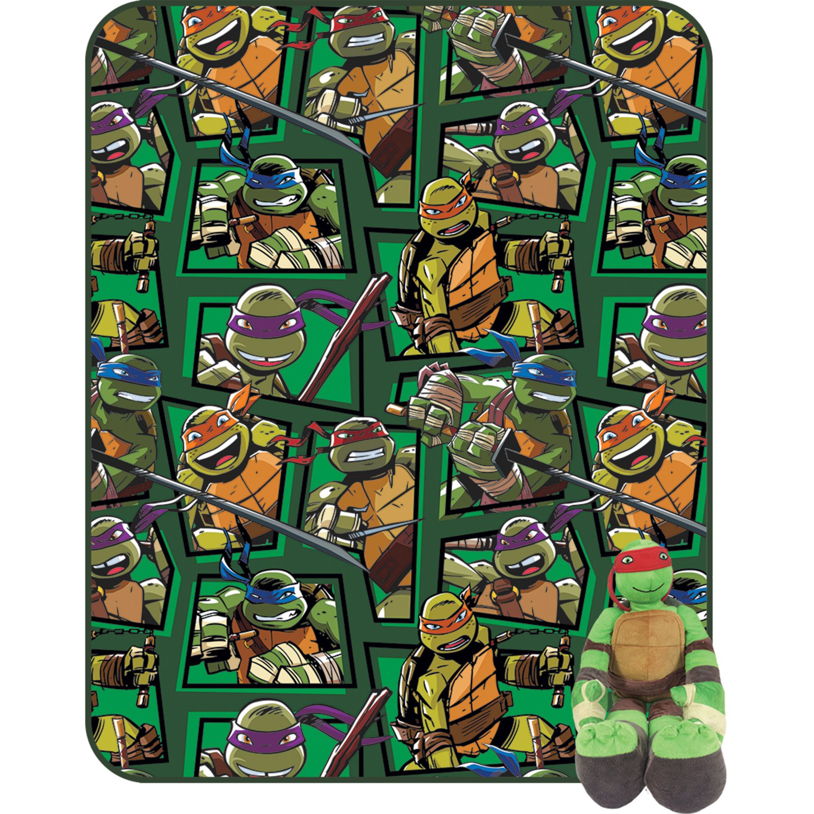 Teenage Mutant Ninja Turtles Twin Blanket with Pillow Buddy by Nickelodeon