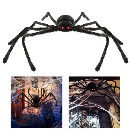 Halloween Hanging Decoration 4.1ft Giant Realistic Hairy SPIDER Outdoor Yard Decor (Halloween Yard Signs Art)