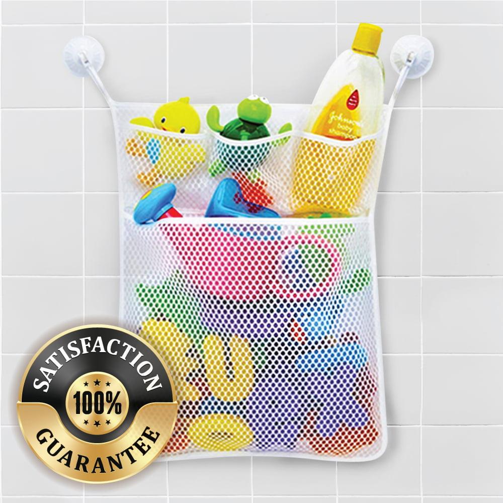 HOT Utility Baby Bath Time Toy Storage Suction Bag Mesh Net Bathroom Organiser S