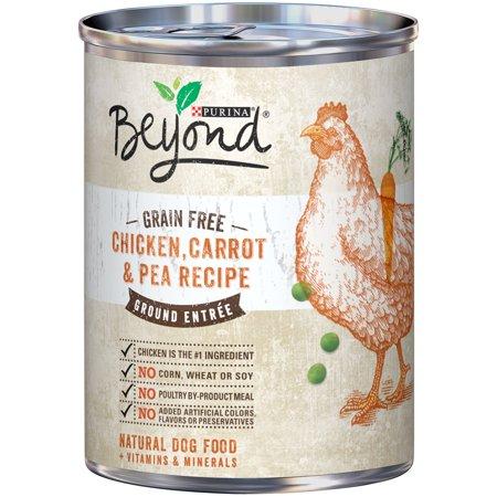 Purina Beyond Grain gratuit poulet, carottes et pois Recette nourriture pour chiens au sol Entrée 13 oz Pouvez