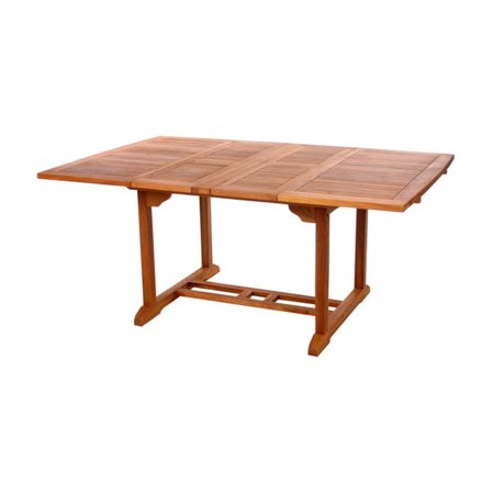 All Things Cedar Teak Butterfly Extension Patio Dining Table