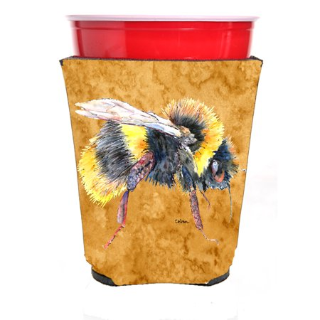 Bee on Gold Ultra Beverage Insulators for slim cans 8850MUK