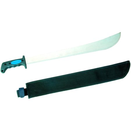 Soft Grip Carbon - Landscapers Select Machete, 18 In Fully Polished High Carbon Steel, Rubber Ergonomic Soft Grip Handl