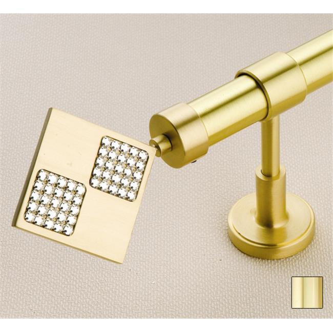 WinarT USA 8. 1035. 25. 04. 400 Hera 1035 Curtain Rod Set - 1 inch - Polished Brass - 157 inch