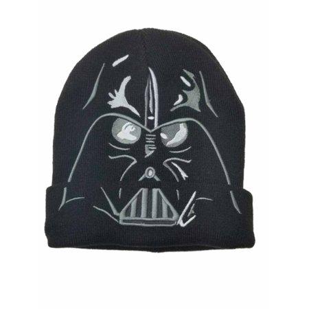 Men's Black Darth Vader Star Wars Beanie Stocking Cap Hat](Long Stocking Hat)