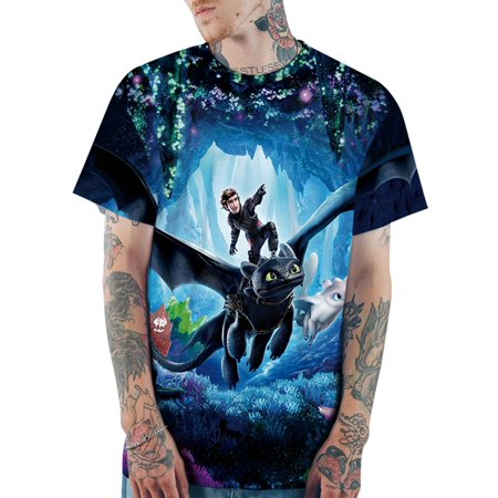 d453a278af UKAP - How To Train Your Dragon Unisex T-Shirt ,Toothless 3D Graphic  Printed Casual Anime Short Sleeve Tee Couple T-Shirt - Walmart.com