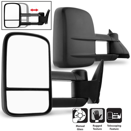 Fit 1988-98 Chevy GMC C/K 1500 2500 3500 Towing Manual Side Mirrors Replacement