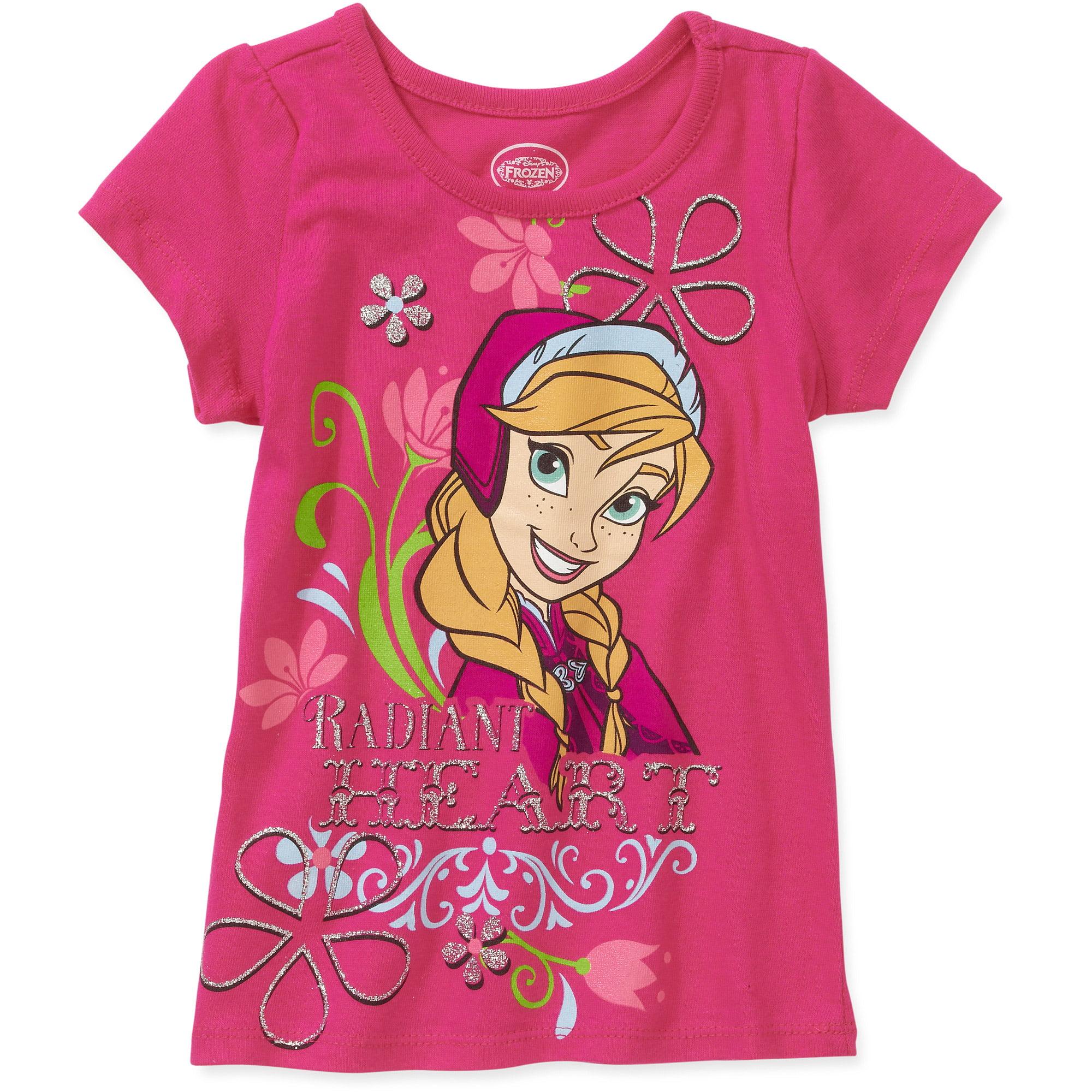 Disney Frozen Toddler Girl Anna Heart Short Sleeve T-Shirt