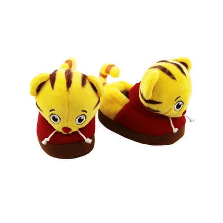 Daniel Tiger Toddler Boys Girls Plush 3D Daniel Head Slippers DTX046 (Daniel Tiget)