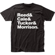 The Velvet Underground Rock Band Line-Up Adult Fitted Jersey T-Shirt Tee