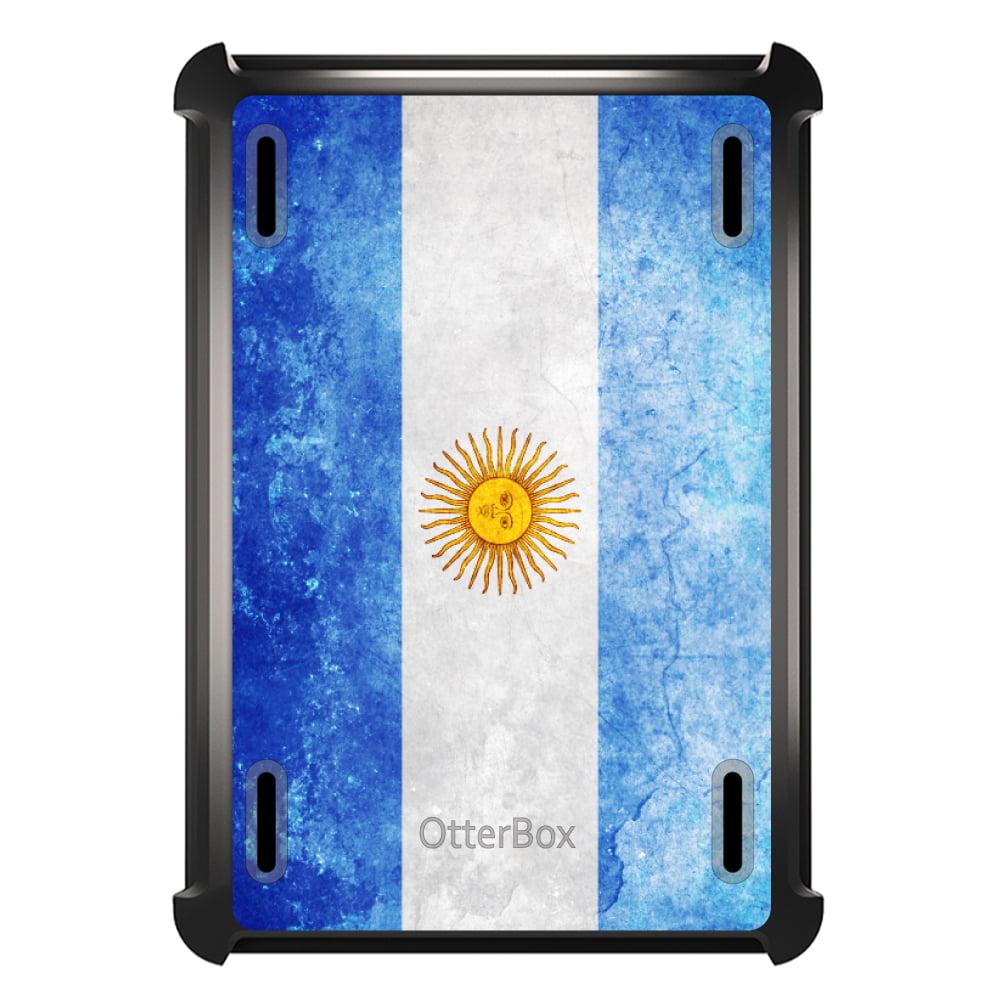 CUSTOM Black OtterBox Defender Series Case for Apple iPad Mini 1 / 2 / 3 - Argentina Old Flag
