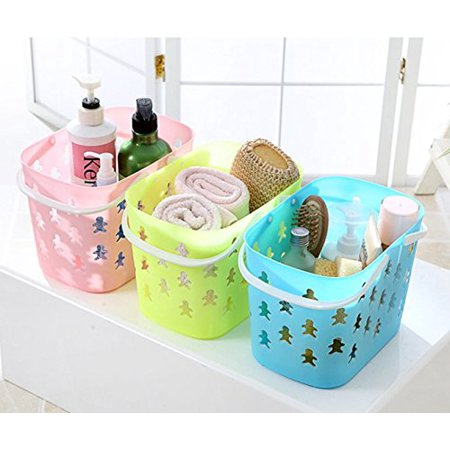 Magshion Bath Spa Organizer Baskets Bins Kid Totes With Handle Set Of 3 - Toto Basket