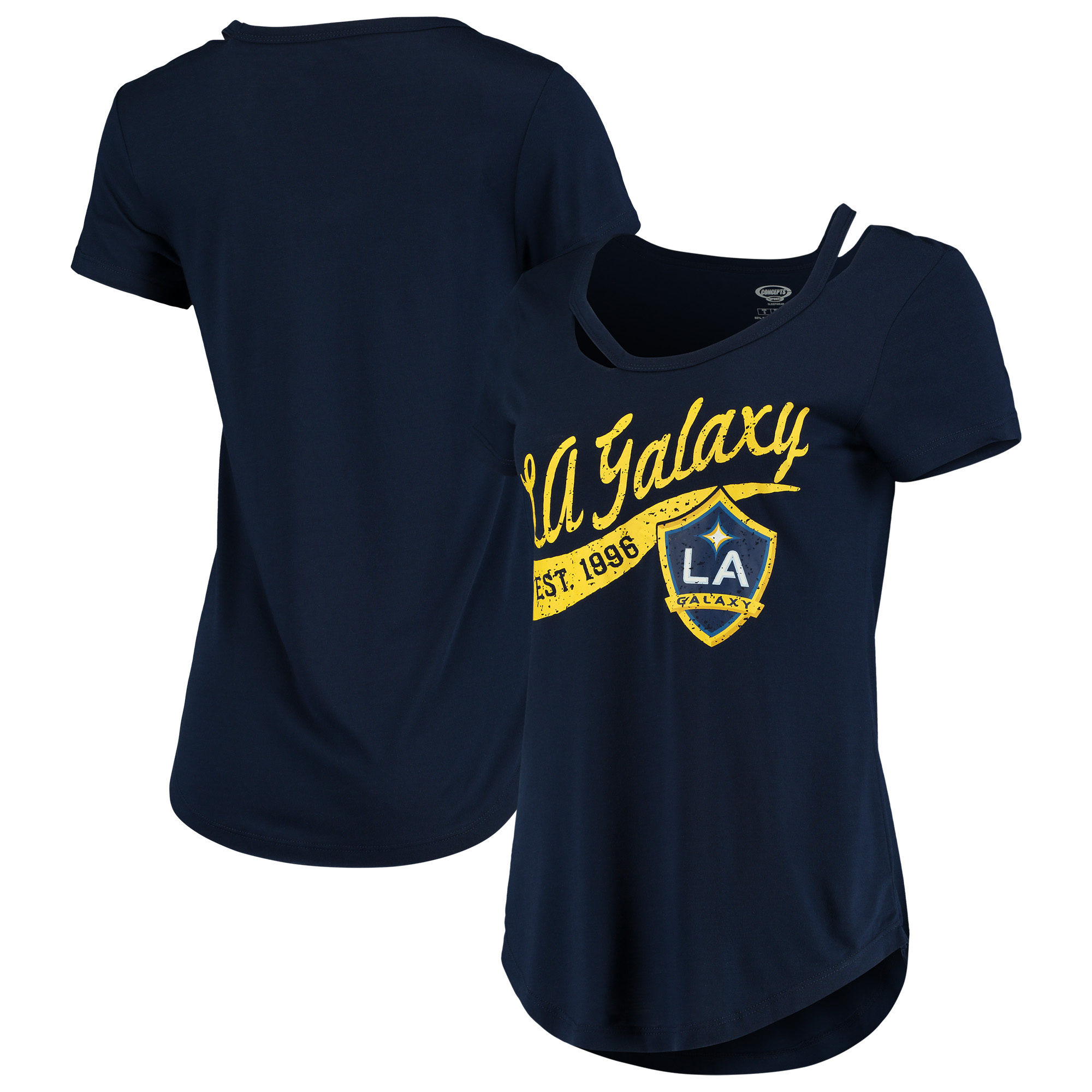 LA Galaxy Concepts Sport Women's Squad Cut Neck T-Shirt - Navy