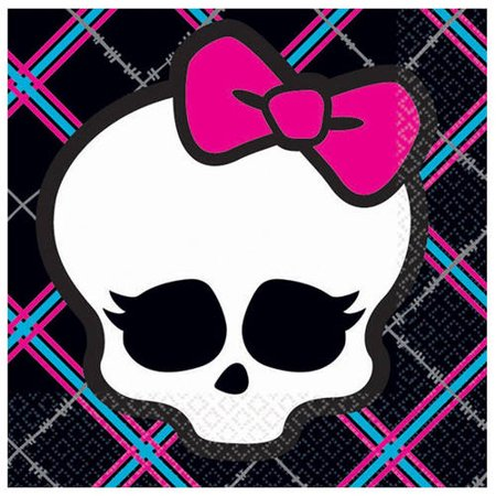 Monster High Beverage Napkins  16Pk