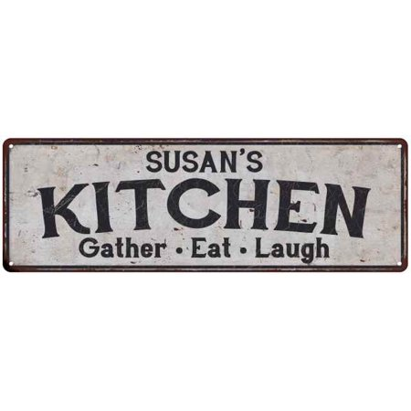 SUSAN'S Kitchen Rustic Look Chic Sign Home Décor Gift 6x18 Sign M61804764