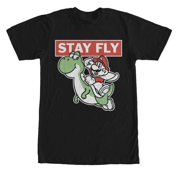 Men's Nintendo Mario Stay Fly T-Shirt Black
