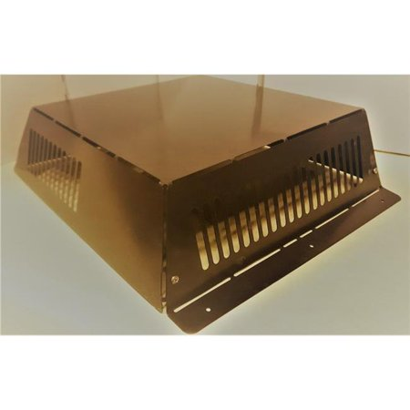 Powder Coated Vent Cover - Wall-E-Cover 5010281 0.25 x 25 x 30 in. Metal Wildlife Vent Cover - Powder-Coated Brown