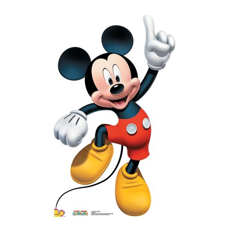 Mickey Mouse Cardboard Cutout (Mickey Mouse Dance Standup - Party Supplies - Licensed Tableware - Misc Licensed Tableware - 1)