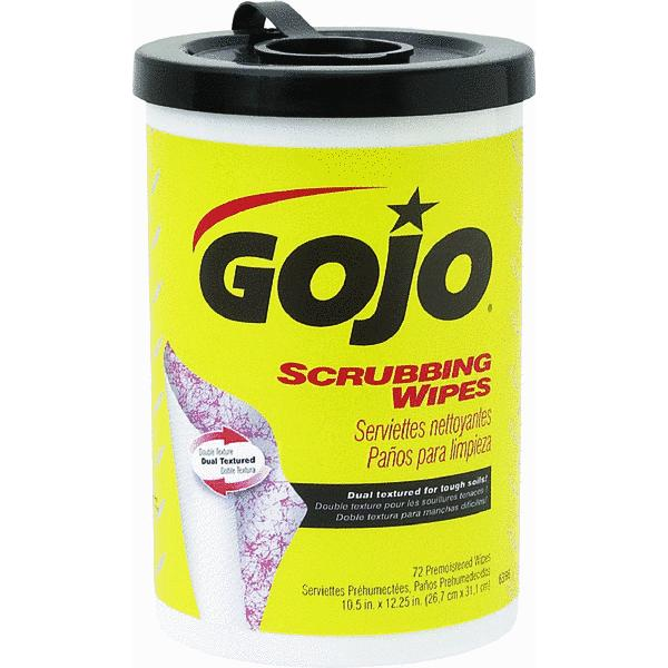 Gojo Scrubbing Wipes - gojo scrubbing wipes 72count canister