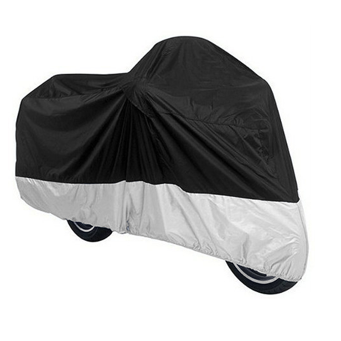 Motorcycle Cover Outdoor Waterproof Protector For Harley Davidson Silver Black