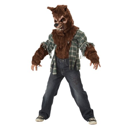 Boys Furry Werewolf Kids Horror Halloween Costume](Last Day Halloween Horror Nights)