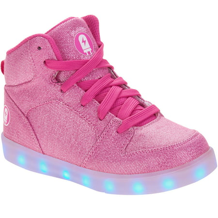Flashlight Girls' Rechargeable Color Changing Light Up LED Athletic Shoe -  Walmart.com